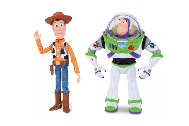 Sheriff Woody and Buzz Lightyear with Interactive Drop-Down Action