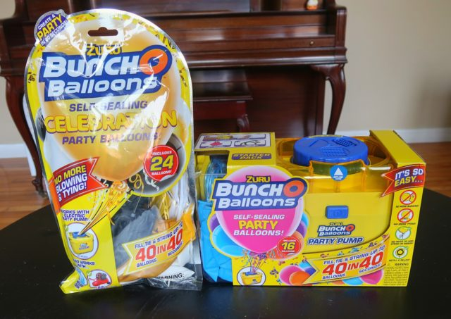 Bunch O Balloons products sent to us included a 24-pack of balloons and a Starter Pack with included Party Pump