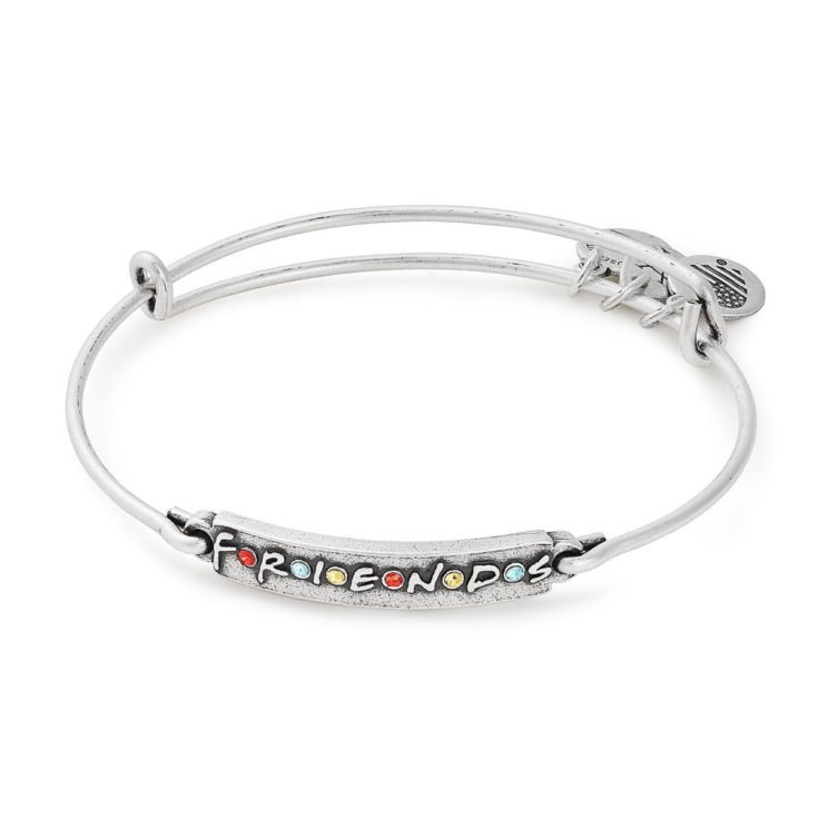 Friends Logo Bar Expandable Wire Bangle