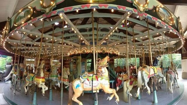 The Carousel in Prospect Park has horses with real tails and a deer with real antlers