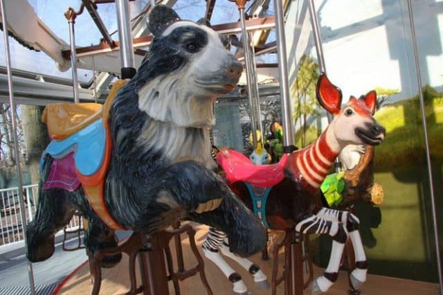 the conservation carousel at the staten island zoo features endangered and vulnerable animals