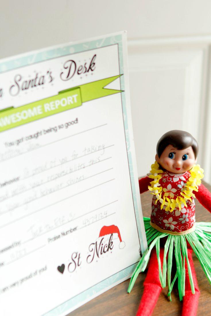 Elf on the Shelf Behavior Reports
