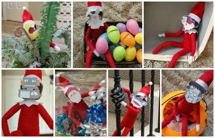 12 Free Printable Elf on the Shelf Masks