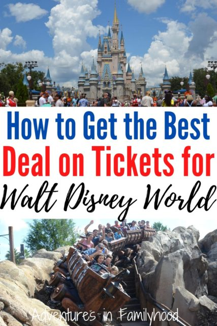how to get the best deal on tickets for Walt Disney World