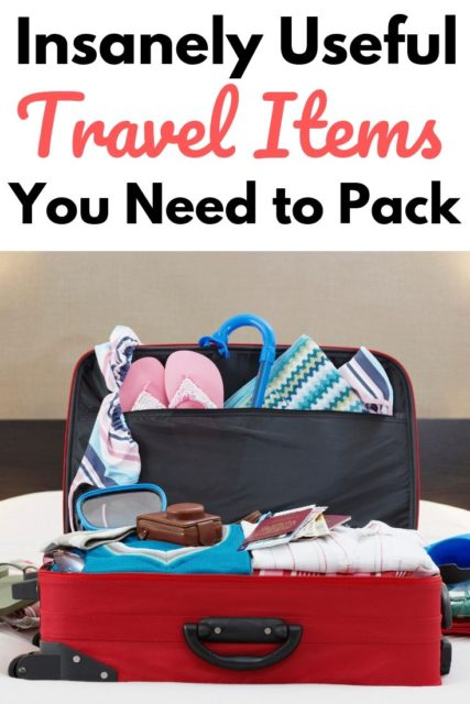 useful travel items to pack