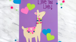 A Simple & Cute Llama Valentine Craft For Kids (With Free Printable)