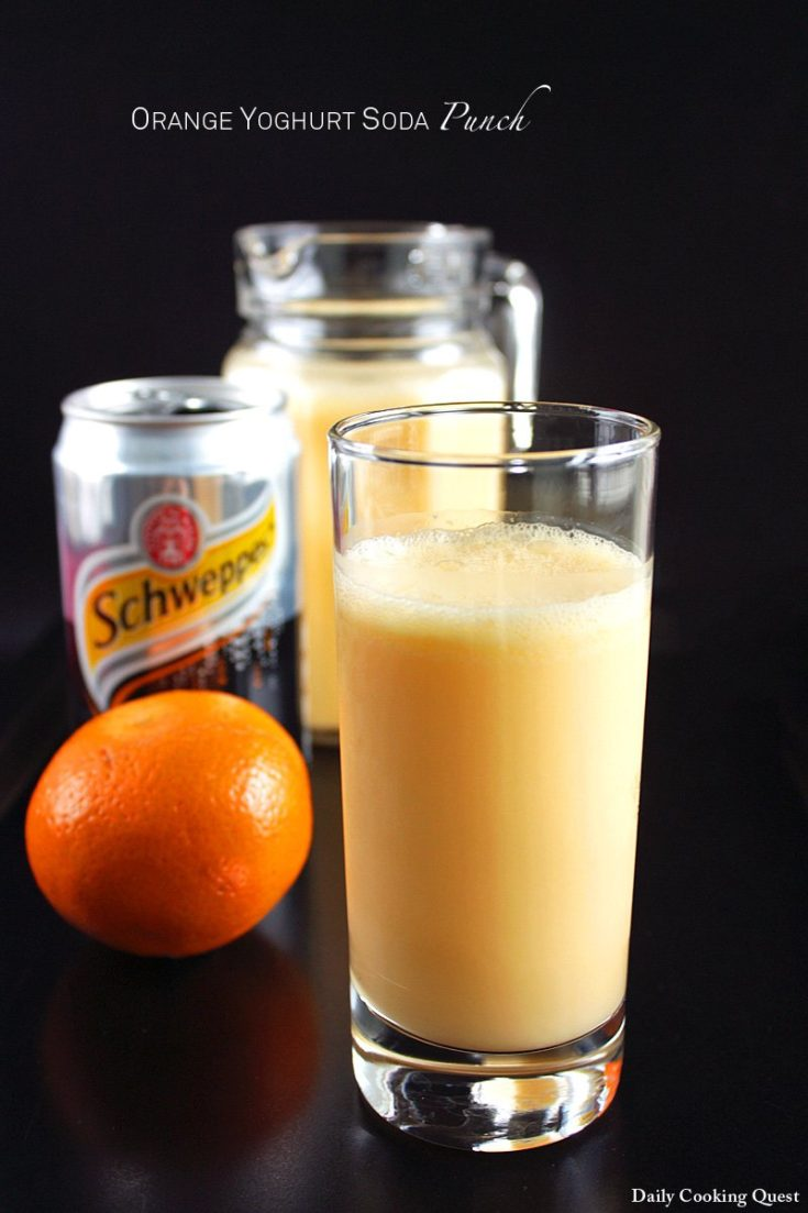Orange Yoghurt Soda Punch