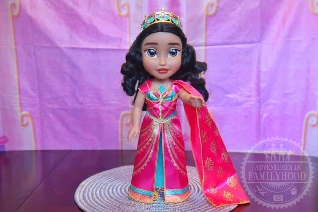 "Princess Jasmine Musical Doll wearing pink dress that sings ""Speechless"""
