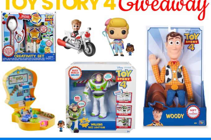 Toy Story 4 Giveaway prizes