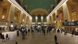 travelers in new york city's grand central station