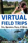 virtual field trips to zoos, aquariums, farms and safaris