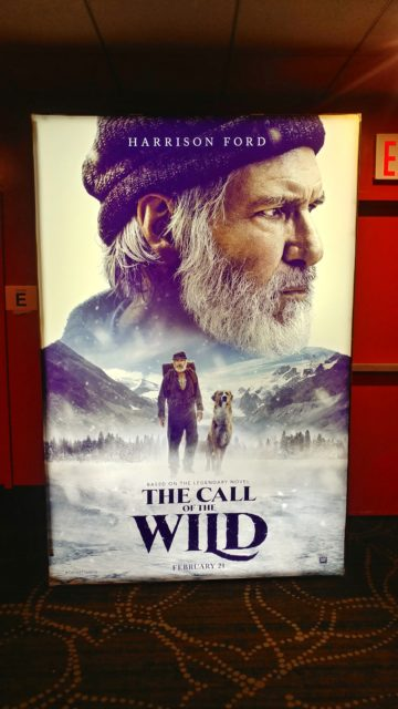 The Call of the Wild movie poster with Harrison Ford