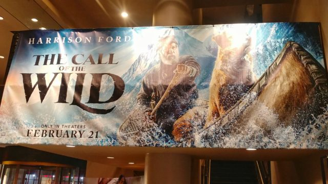 The Call of the Wild sign inside the movie theater